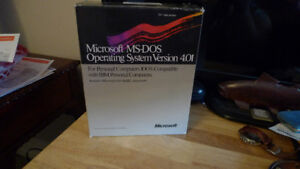 """Microsoft MS-DOS Operating System Version 4.01 5.25"""" Disks"""