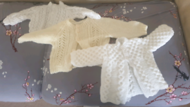 0-3 months Knitted cardigan and baby blanket