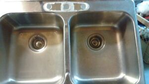 1 double stainsteel sink