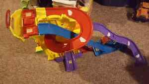 Tons and tons of vtech toys and tracks!