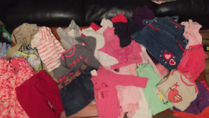 Infant girls clothes size 6-12 months