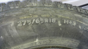 275/65R18 wild country radial tires