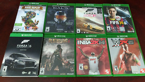 Lot of 8 Xbox One Games (Halo, Forza, Rare Replay + More)