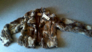 bran new with tags furr coat
