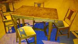 Antique Wooden Dining Table and Chairs London Ontario image 2