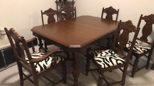 Vintage solid wood Dining room table