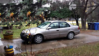 2000 Toyota Corolla as is, no safety