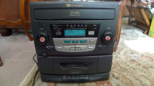 White Westinghouse AM/FM stereo Cassette with CD Changer