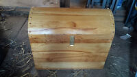 hand made solid wood chest
