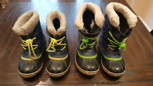Boys Sorel winter boots size 13 and size 1