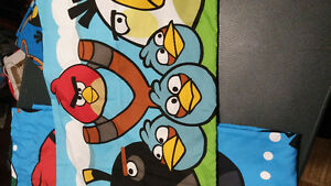Angry Bird Curtains and Twin sheet set