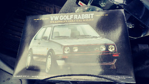 Golf rabbit gti 1:24 model car + dodge challenger concept