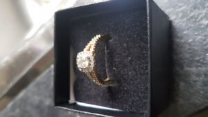 Glacial fire Engagement ring