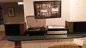 ADC 1600 Turntable + Sansui 5000A Stereo Receiver + Bose 301