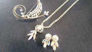 Bijoux vintage en pierre du rhin