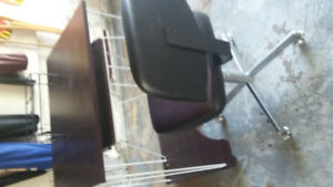 Compact desk and chair