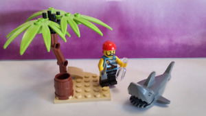 Lego Pirate Set - with Island and Shark