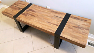 Crate & Barrel Coffee Table Rustic Reclaimed