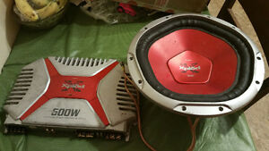 sub and amp forsale