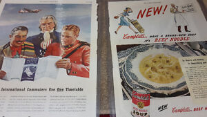 Vintage Paper Advertising Lot of 4