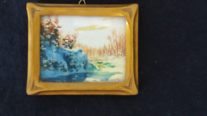 Genuine Willard Mitchell miniature water colour