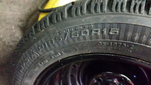 For sale winter tires on rims Goodyear Nordic 185/60/15