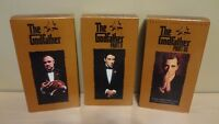 The Godfather Trilogy VHS Movie! 6 Tapes Bonus Features