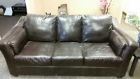 SET OF 3 IMITATION LEATHER COUCHES FOR SALE