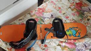 Kids Burton snowboard, boots, bindings and goggles