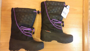 Girls Warm Winter Boots - Size 11