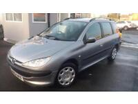 2004 54 PEUGEOT 206 ESTATE SW 1.4 HDi 70 S . ONLY £30 PA ROAD TAX,GREAT RUNNER .