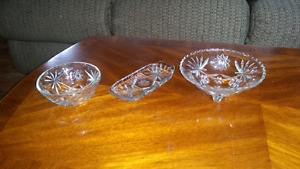 Three-piece Crystal Bowl set for sale