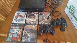 PS2 system, memory card, controllers and games