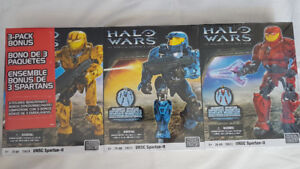 Brand New/Rare - HALO WARS - 3-Pack UNSC Spartan II -29674 3 2