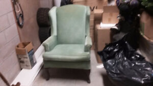 NICE KOHLER WING BACK CHAIR.