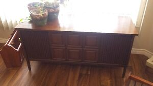 Cabinet type LP record player with extras