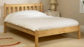 Double bed and mattress. Delivery available extra cost
