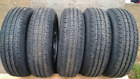 P225/75R16 GOODYEAR WRANGLERS ON OE JEEP WHEELS - SET OF 5