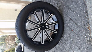 "22"" KMC Rebel Wheels and Tires for GMC/Chevy"