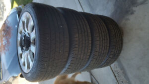 """17"""" BMW wheels and new tires 335i 5x120 3 series"""