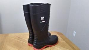 Steel toe rubber waterproof work boots