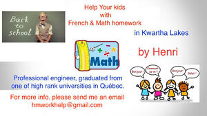 Help your kids with their math and French homework Kawartha Lakes Peterborough Area image 1