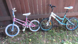 2 kids bikes for sale and step 2 toy kitchen($35.00)