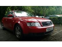 Red Audi A4 1.9 TDi 130bhp Manual