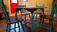 Newly Refinished Oak Dining Set