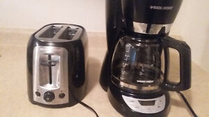 black and decker coffee maker and toaster