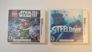 Lego Star Wars III et Steel Diver pour Nintendo 3DS - Comme neuf