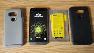 LG G5 -Unlocked    Accessories and New Battery    Android 8