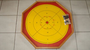 CROKINOLE BOARD WITH BUTTONS