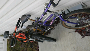Youth bikes / bicycles FIXER UPPERS BOTH FOR 10